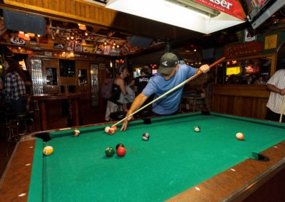 Playing Pool at Streeter's Tavern